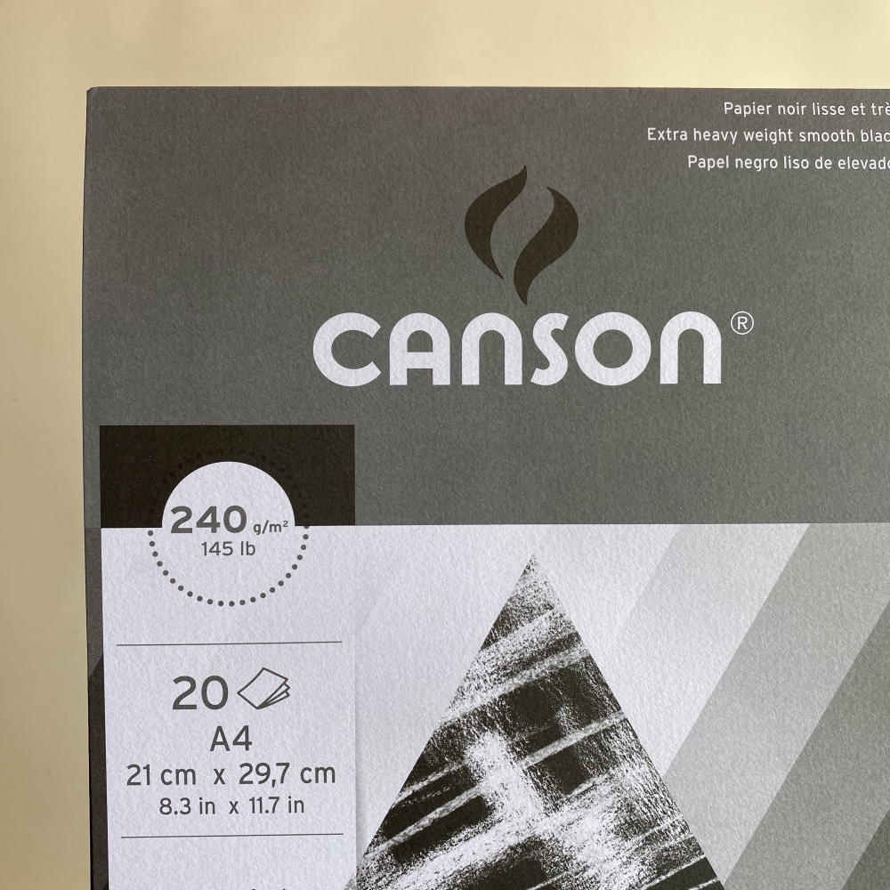 Canson Black paper