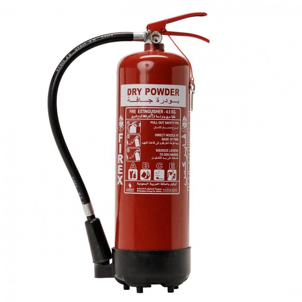 طفاية الحريق بودرة جافة 6 كيلو ضمن صندوق السلامة المنزلية