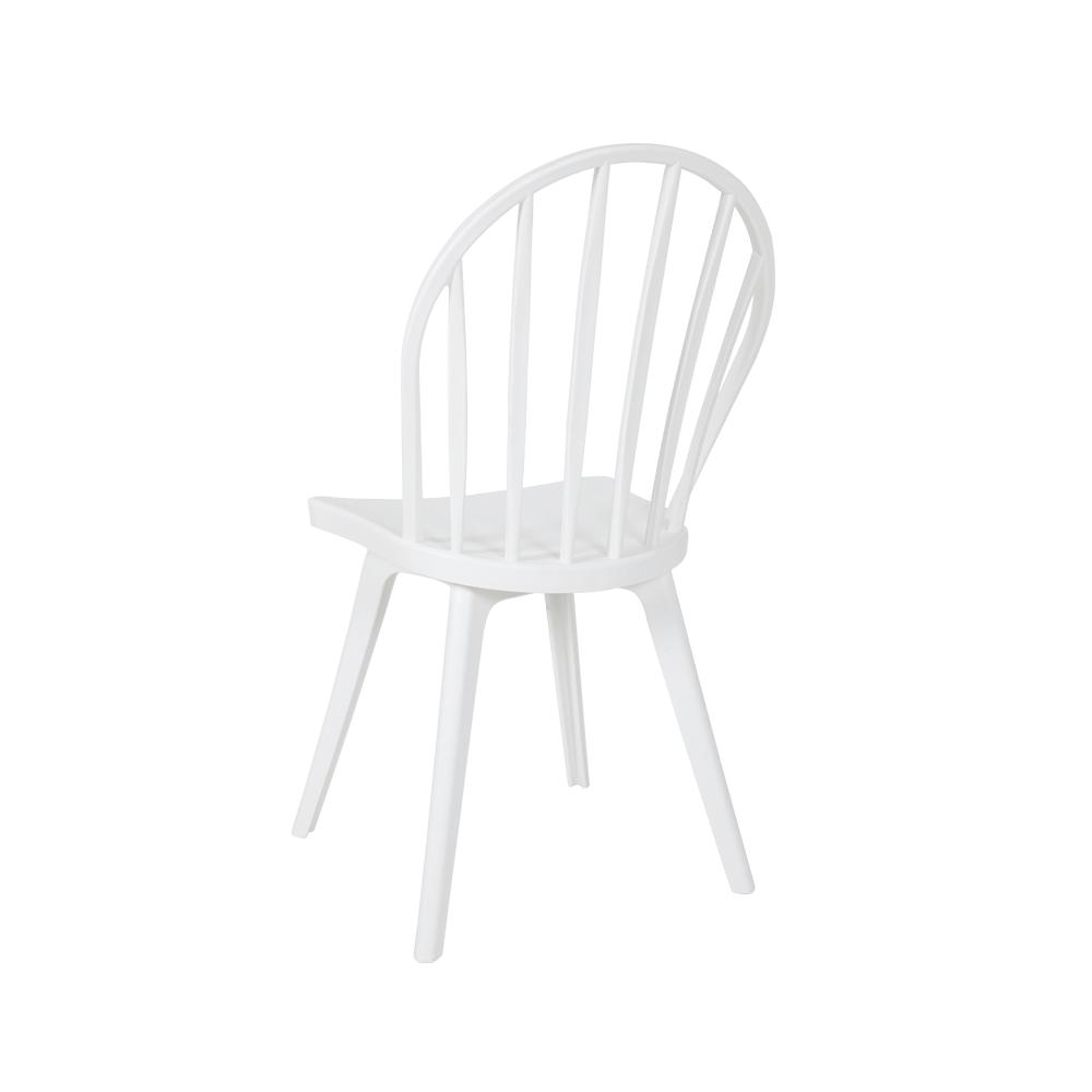 زاوية من الخلف لرؤية الكرسي في طقم كراسي من البلاستيك PP من متجر مواسم