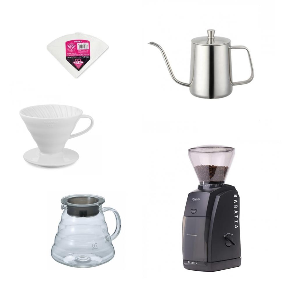 مجموعة بكج القهوة المقطرة الاحترافية v60