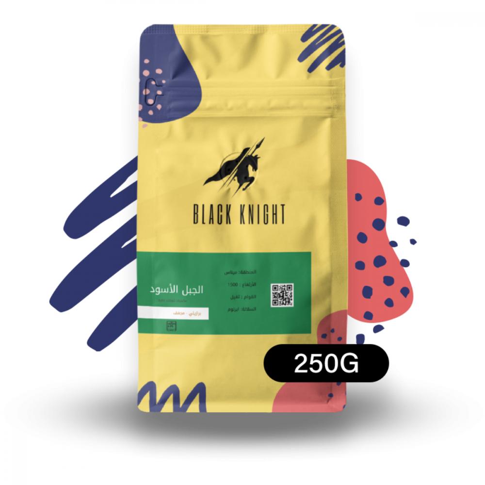 الجبل الأسود برازيلية مجففة محمصة الفارس الأسود قهوة مختصة