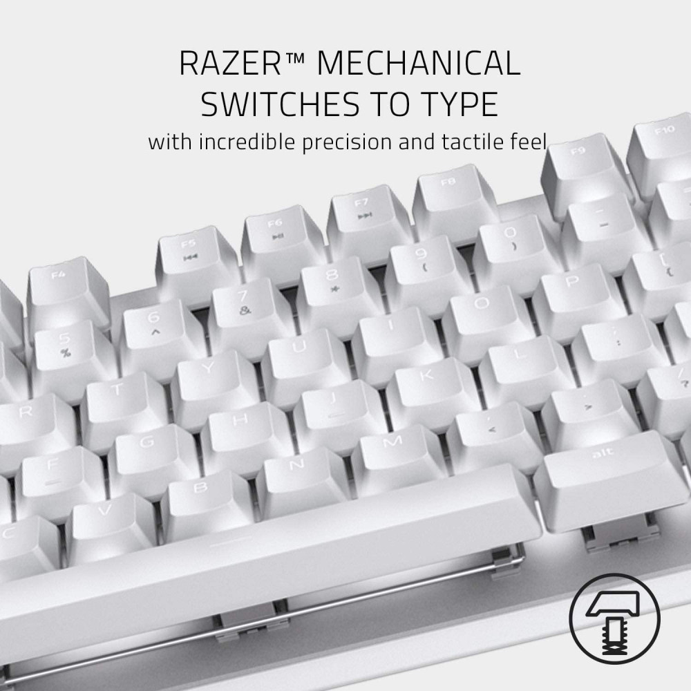Razer Blackwidow Lite Mercury Silent Mechanical Gaming Keyboard